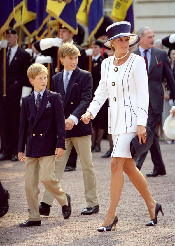 With Prince William and Prince Harry.