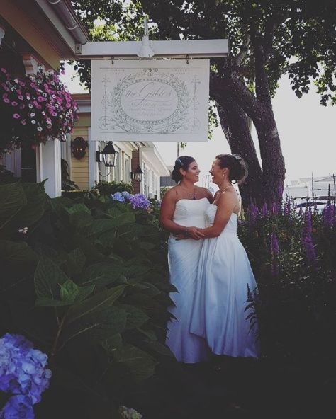 """""""While we missed NY Pride, we got to spend the day photographing an absolutely perfect wedding!"""" --<i>Cathie Berrey-Gre"""