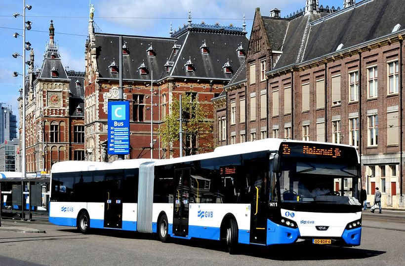 <i>Amsterdam plans for its public transit to be emission-free by 2025.</i>