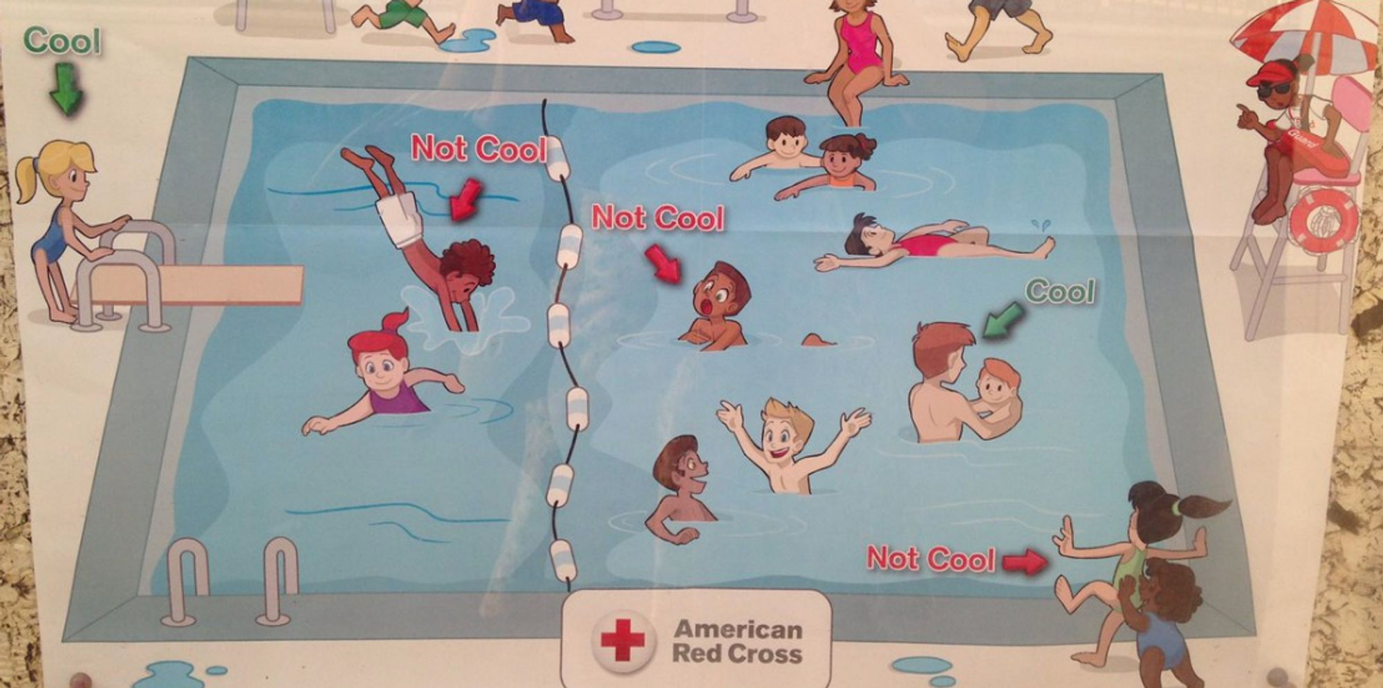 Red Cross Apologizes For 'Super Racist' Pool Safety Poster