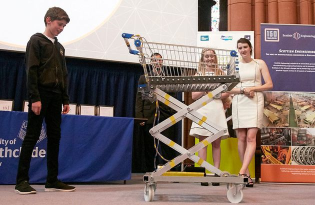 Schoolboy Designs Robotic Trolley To Help Elderly And Disabled People At The