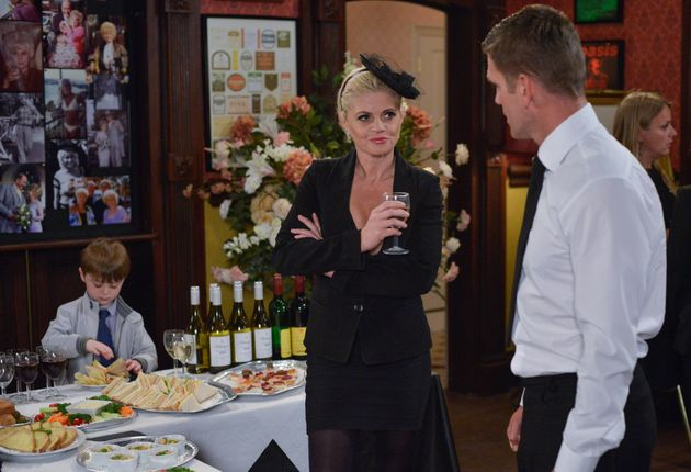 Sam made a comeback for Peggy Mitchell's funeral last