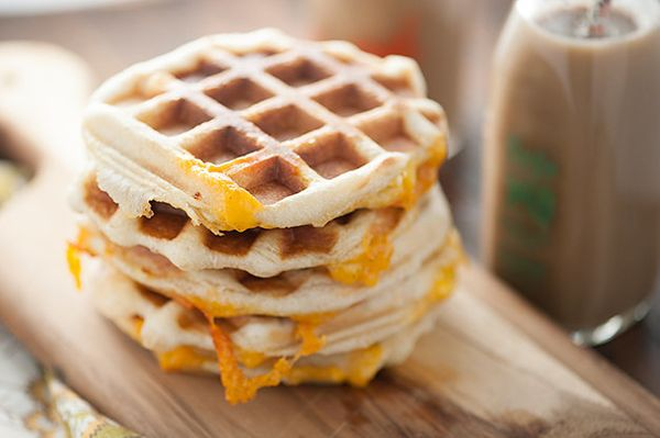 "<strong>Get the <a href=""http://www.bunsinmyoven.com/2015/03/31/stuffed-biscuit-waffles/"" target=""_blank"">Stuffed Biscuit Waf"