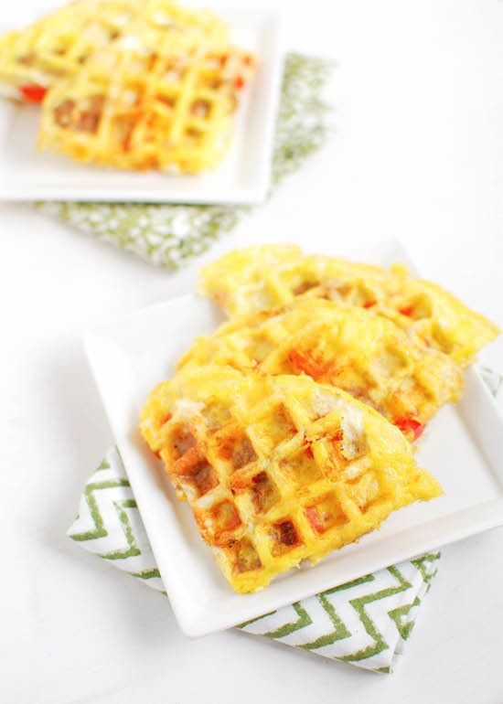 "<strong>Get the <a href=""http://www.theleangreenbean.com/egg-waffles/"" target=""_blank"">Egg Waffles recipe</a> from The L"