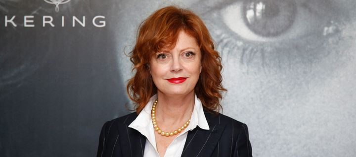 "Actress Susan Sarandon poses ahead of a debate ""Kering Women in Motion"" during the 69th Cannes Film Festival in Cannes, Franc"