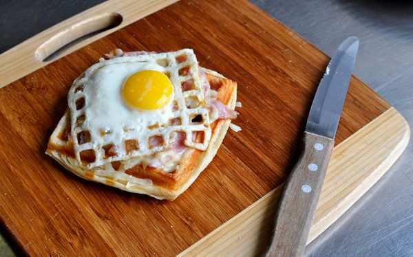 "<strong>Get the <a href=""http://www.willitwaffle.com/blog/2010/02/10/waffled-croque-madame"" target=""_blank"">Waffled Croque Ma"