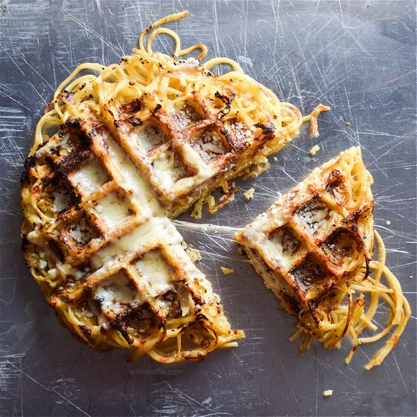 "<strong>Get the <a href=""http://www.willitwaffle.com/will-it-waffle/2016/3/13/waffled-spaghetti-pie"" target=""_blank"">Waffled"