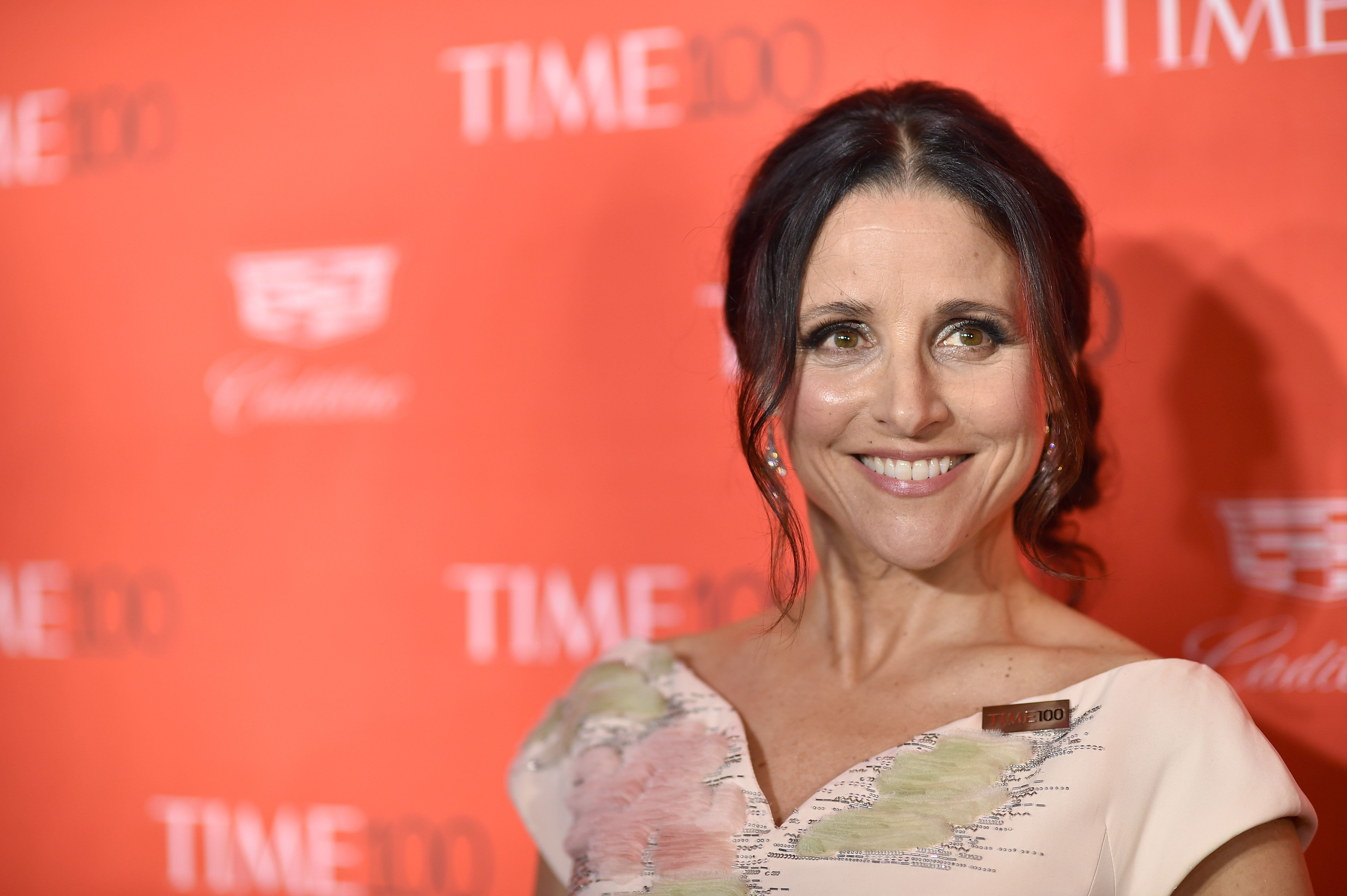 NEW YORK, NY - APRIL 26:  Actress Julia Louis-Dreyfus attends 2016 Time 100 Gala, Time's Most Influential People In The World red carpet at Jazz At Lincoln Center at the Times Warner Center on April 26, 2016 in New York City.  (Photo by Dimitrios Kambouris/Getty Images for Time)