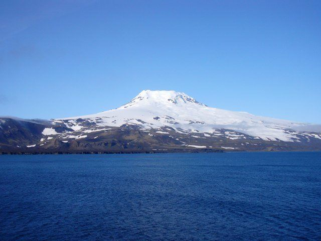 Beerenberg is the 2,277-meter (7,470-feet) volcano that dominates the north end of Jan Mayen, a Norwegian territory that lies