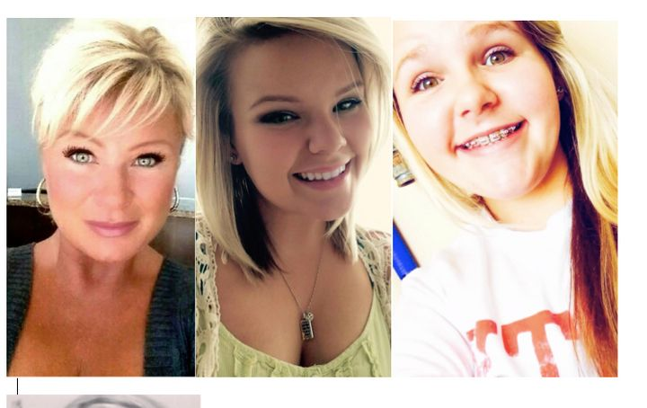 Christy Sheats, left, killed her two daughters, Taylor, 22, and Madison, 17, outside their Texas home on Friday, accordi