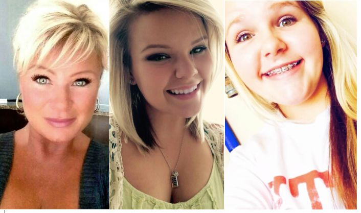 Christy Sheats, left, is accused of killing her two daughters, Taylor, 22, and Madison, 17