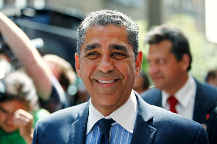 New York state Sen. Adriano Espaillat (D) in New York City on June 24, 2015. Espaillat is running for Congress on a platform