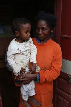 Sitraka's mother, Mariette, earns just $0.47 a day.