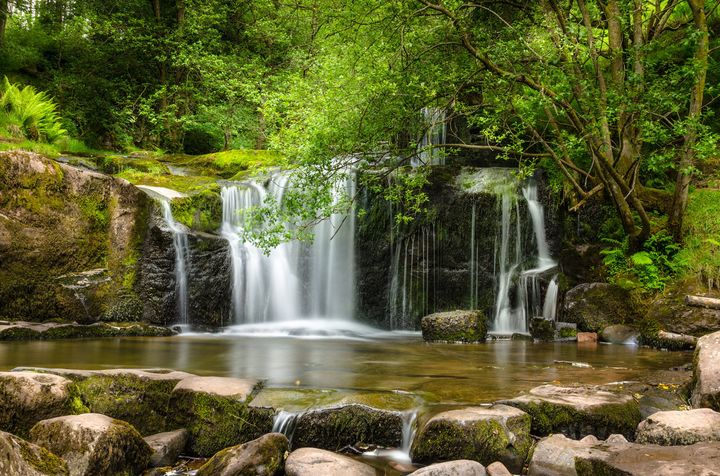 A waterfall in Brecon Beacons National Park.