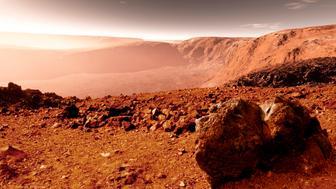 Mars surface close to equator