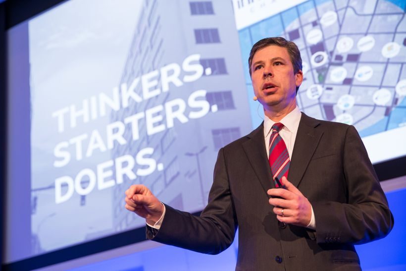 <i>Chattanooga Mayor Andy Berke talks about the city&rsquo;s Innovation District at the National League of Cities Big Ideas f
