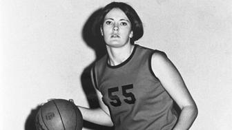 Tennessee Martin University Skyhawks women's basketball player Pat Summitt #55 at the Elam Center in Martin, Tennessee. (Photo by Collegiate Images, LLC/WireImage) *** Local Caption ***