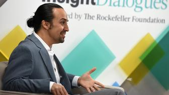 NEW YORK, NY - JUNE 23:  Lin-Manuel Miranda speaks at Insight Dialogues Presented by The Rockefeller Foundation, on June 23, 2016 in New York City.  (Photo by Jennifer Graylock/Getty Images for The Rockefeller Foundation)