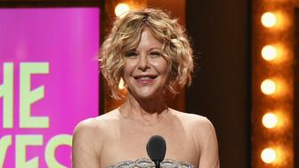 NEW YORK, NY - JUNE 12:  Presenter Meg Ryan speaks onstage during the 70th Annual Tony Awards at The Beacon Theatre on June 12, 2016 in New York City.  (Photo by Theo Wargo/Getty Images for Tony Awards Productions)