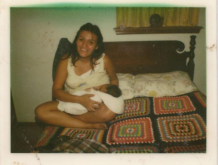 The Native American mom's commitment to breastfeedingwas inspired in part by an old Polaroid photo of her own mother nursing her.