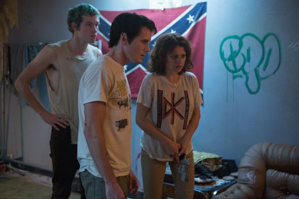 """""""Green Room"""" is mostly a bottle movie, taking place largely inside a seedy Oregon club where the members of a punk band becom"""