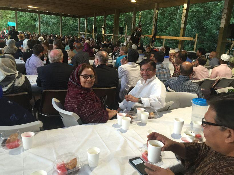 Community Iftaar at the great outdoor Pavillion