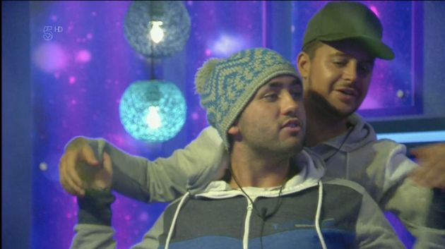 Ryan and Hughie having a cosy