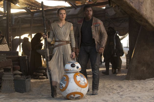 Daisy Ridley and John Boyega in 'Star Wars: The Force
