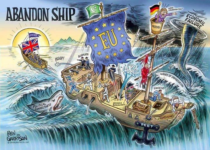 Leave.EU's cartoon. The organization has 700,000+ followers on Facebook.