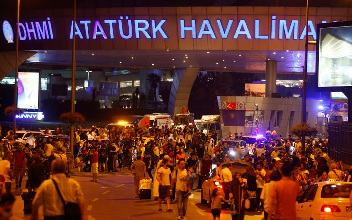 Hundreds of passengers trapped inside the airport during the attack streamed out early Wednesday with harrowing tales of the