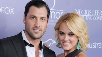 CENTURY CITY, CA - JUNE 27:  Professional dancers Maksim Chmerkovskiy and Peta Murgatroyd arrive at the 8th Annual Australians In Film Breakthrough Awards at InterContinental Hotel on June 27, 2012 in Century City, California.  (Photo by Gregg DeGuire/WireImage)