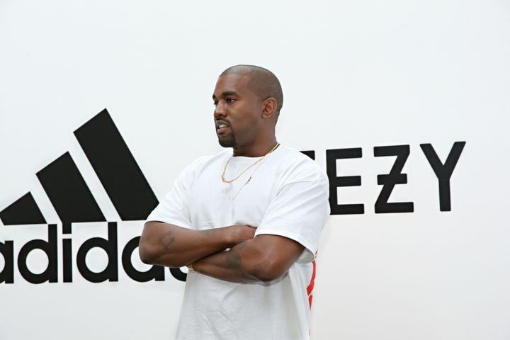 Kanye & Adidas sitting in a tree...