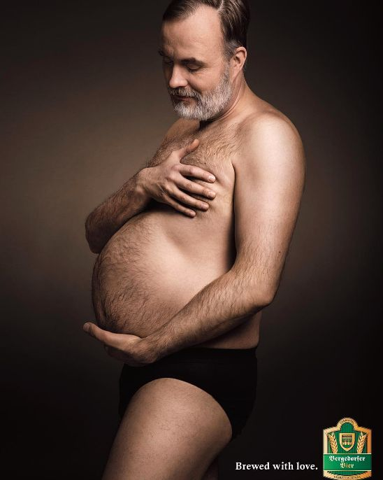 Beer Ads Recreate Maternity Photos, But 'Beer Bellies Are No Laughing