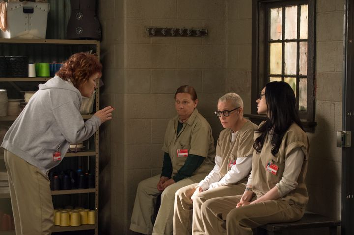 "Kate Mulgrew, Dale Soules, Lori Petty and Laura Prepon star in a scene from Season 4 of ""Orange is the New Black."""