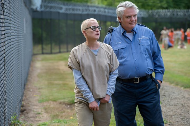"Lori Petty and Michael J. Harney star in a scene from Season 4 of  ""Orange is the New Black."""
