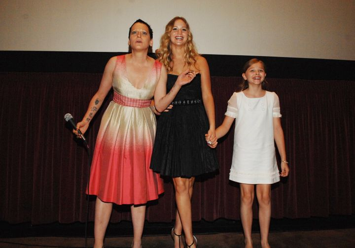 "Lori Petty, Jennifer Lawrence and Chloë Grace Moretz attend a Los Angeles Film Festival screening of ""The Poker Hou"