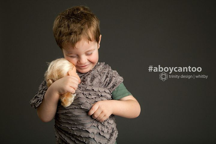 """""""Seeing the affection this little guy had for the doll was so rewarding and he wore the wrap like a pro. Boys love dolls and prove that #aboycantoo enjoy imagination play with a doll as much as a girl."""""""