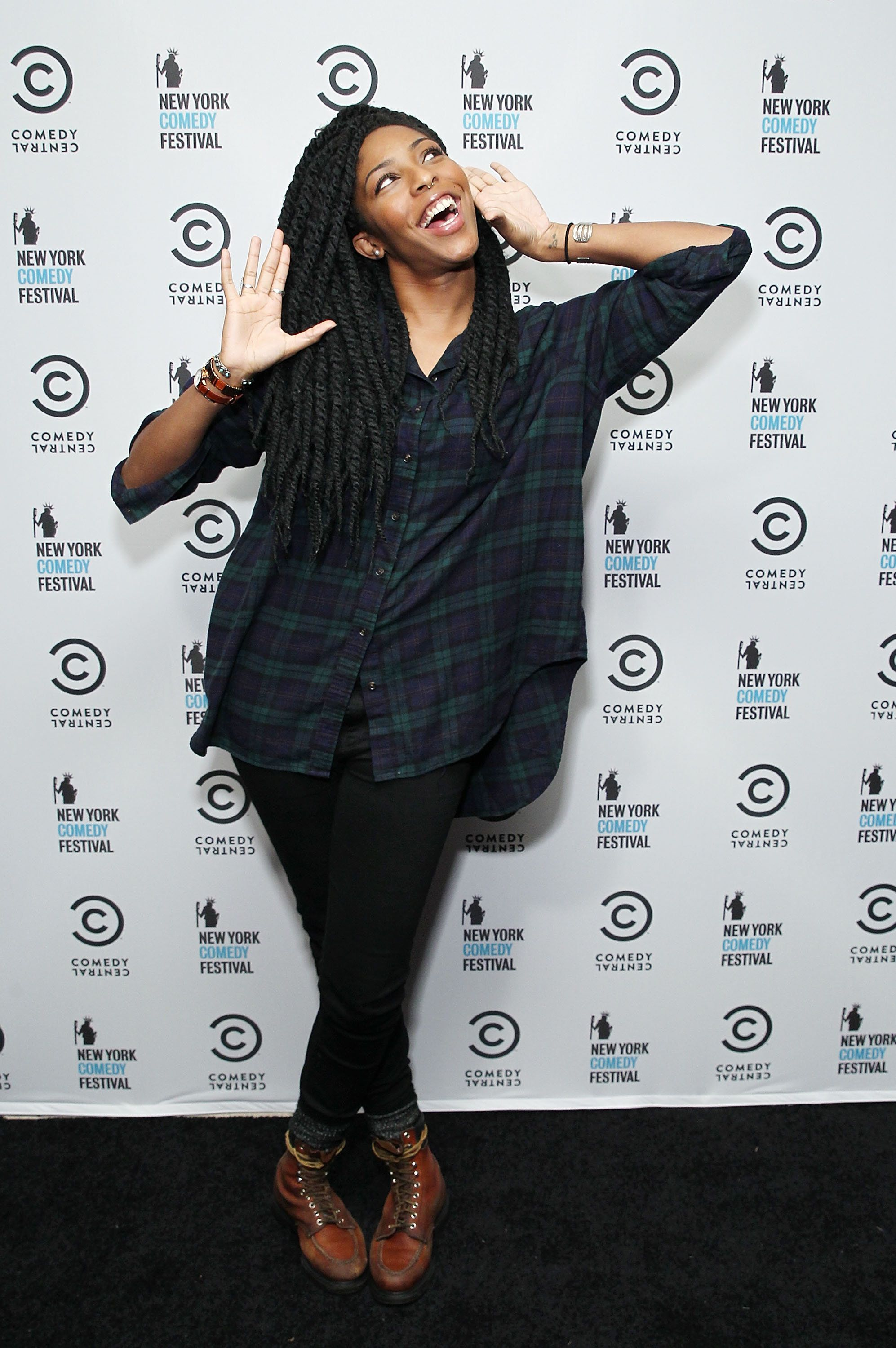 NEW YORK, NY - NOVEMBER 06:  'The Daily Show' correspondent, Jessica Williams attend The New York Comedy Festival Annual Kick-Off Party on November 6, 2014 in New York City.  (Photo by Astrid Stawiarz/Getty Images for Comedy Central)