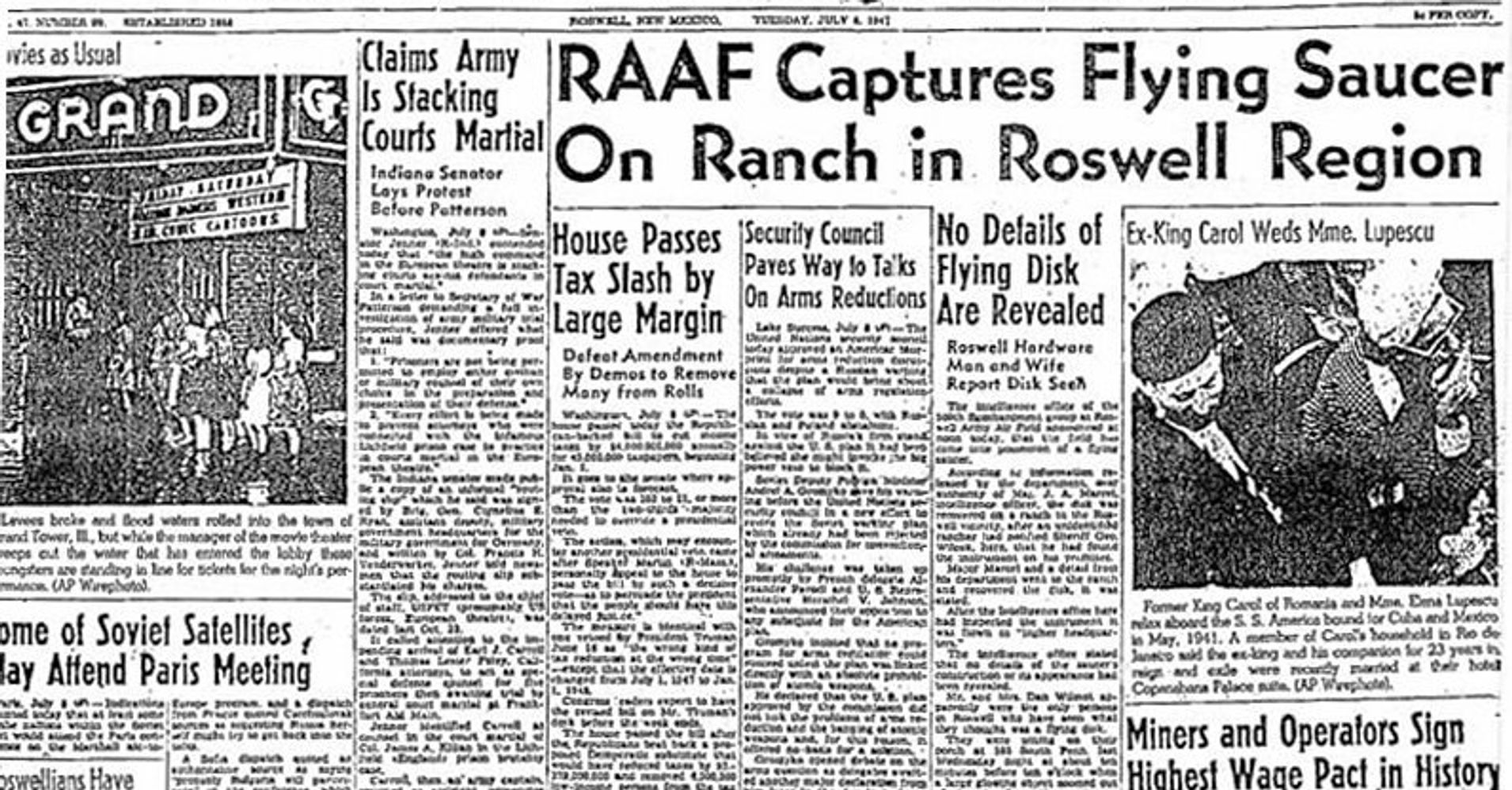 an analysis of the summer of 1947 and the sightings of an unidentified flying object in the roswell The 1947 ufo controversy of roswell, nm is like a bad penny: it keeps turning up the legend, rehashed by conspiracy theorists in countless documentaries, revolves around allegations that an.