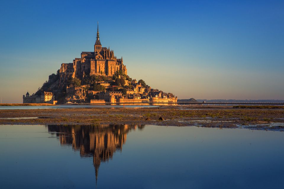 Mont Saint Michel bay at high tide
