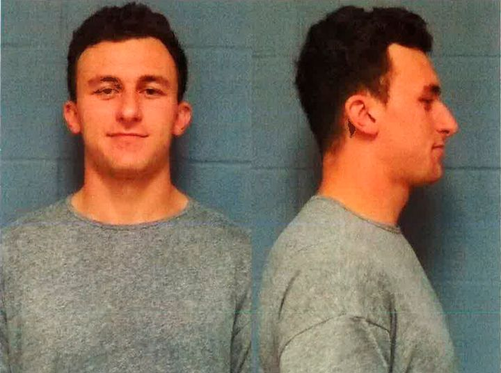 Manziel's May 2016 booking mugshot for his domestic violence charge.