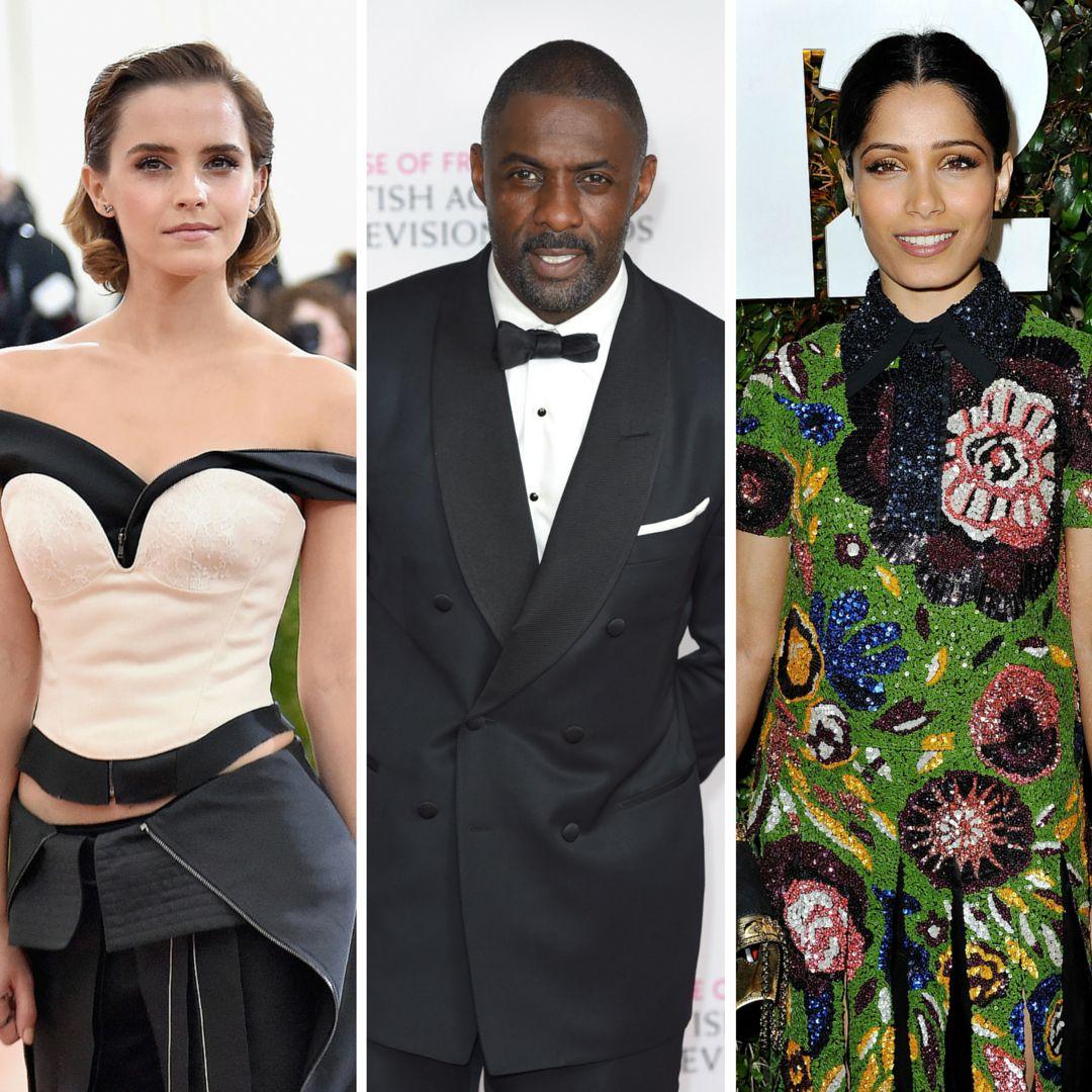 Emma Watson, Idris Elba and Freida Pinto are among this year's invitees.