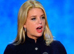 <strong>Florida Attorney General Pam Bondi speaking out against the medical marijuana initiative in 2014</strong>