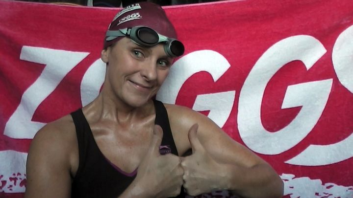 Jane Hatwell claims swimming cured her.