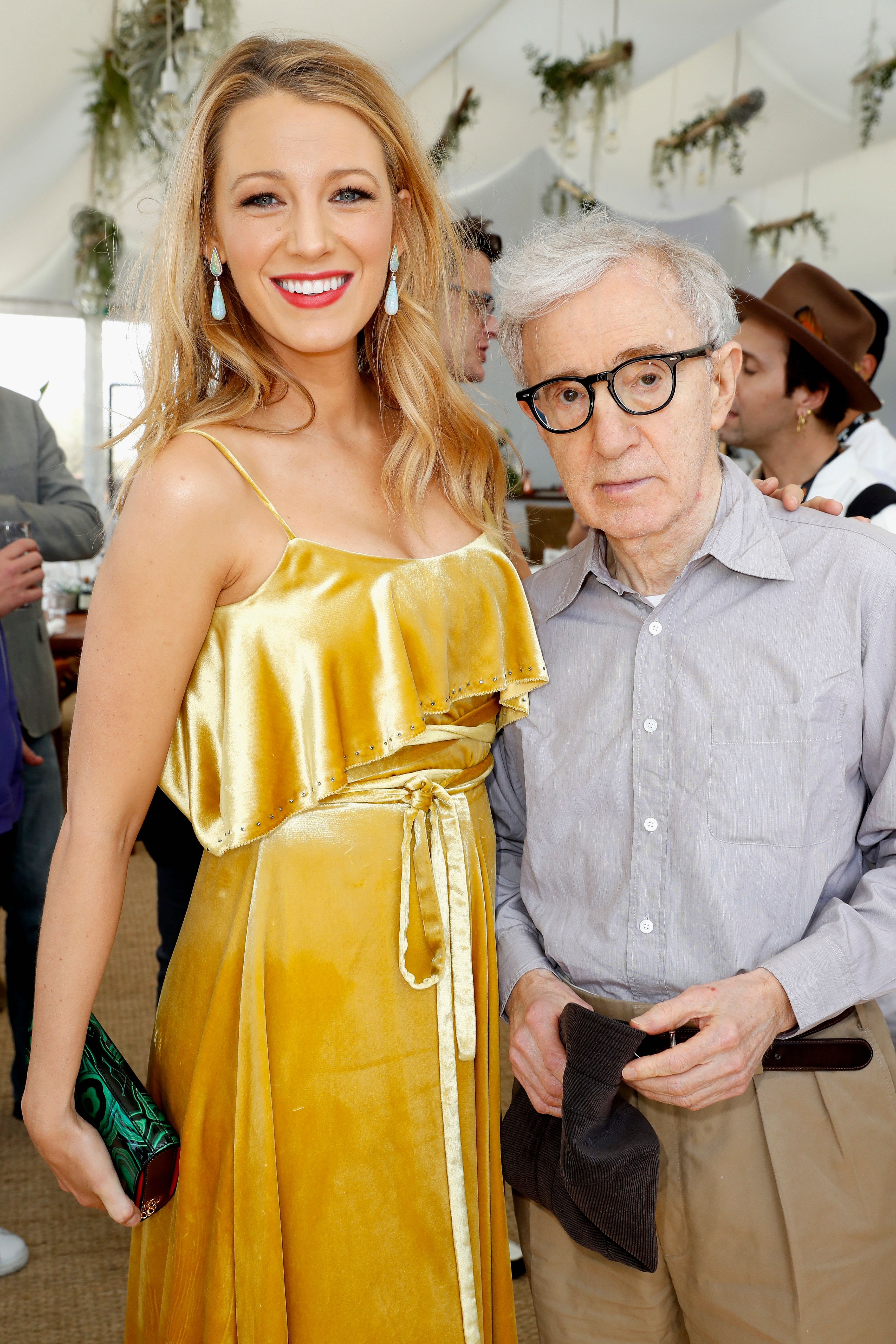"""Blake Lively and director Woody Allen attend the Amazon Studios """"Cafe Society"""" press luncheon during the 69th annual Cannes F"""