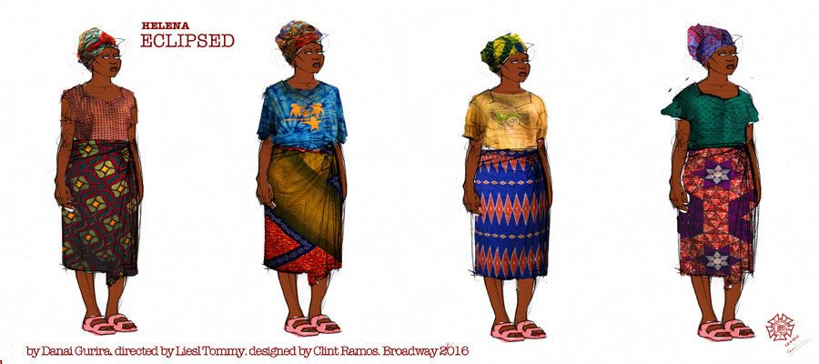"Character sketches of Helena, also known as Wife Number One, played by Saycon Sengbloh: ""She is kind of like Mother Earth,"" R"