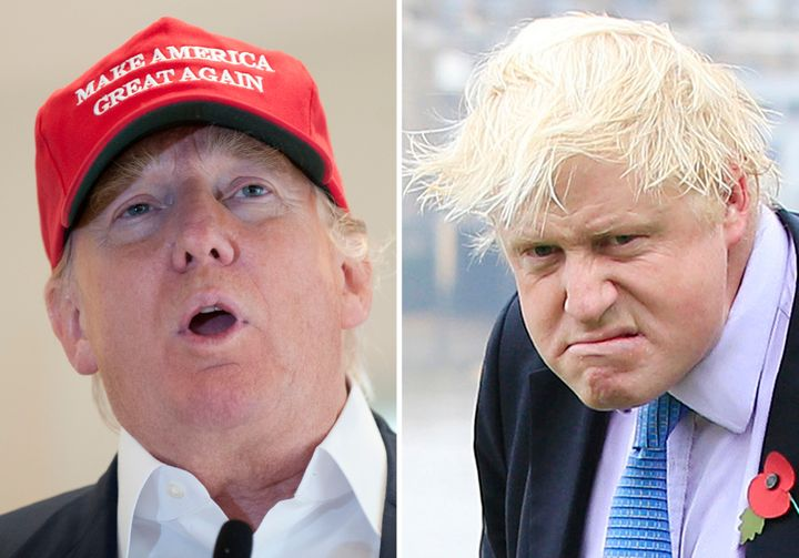 The resemblance between Donald Trump (left) and Boris Johnson is uncanny.