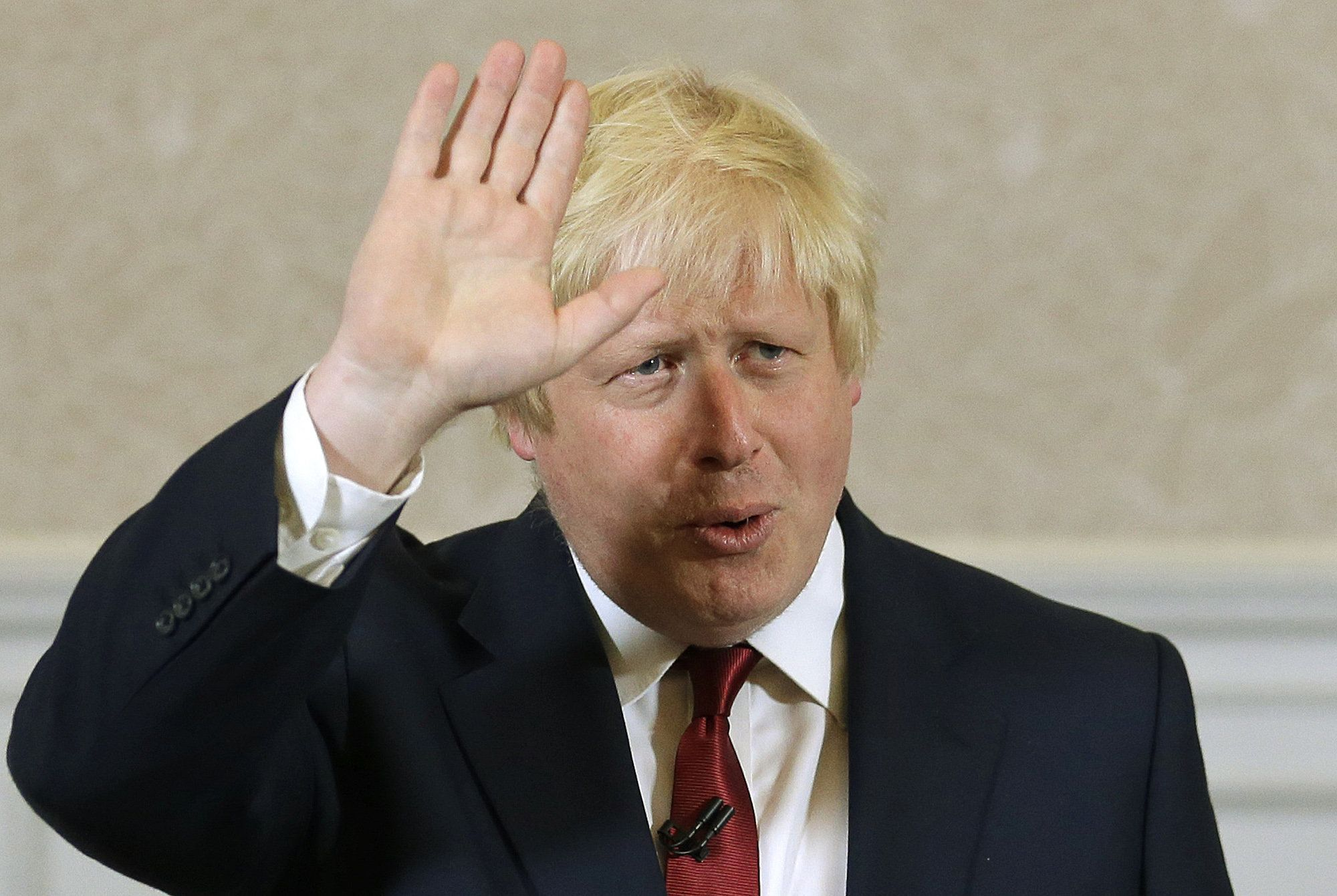 Boris Johnson, pictured above announcing he won't content the Conservative Party leadership, has been...