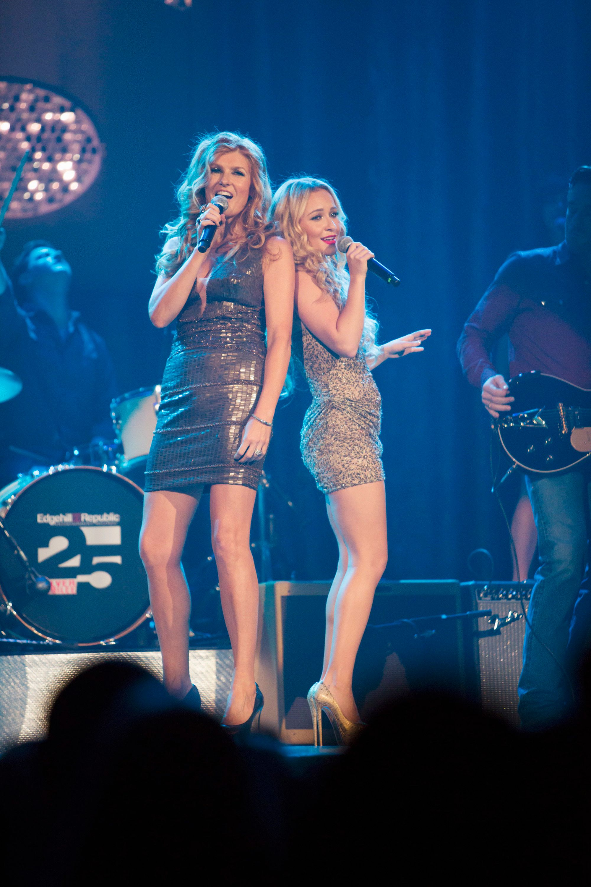 NASHVILLE - 'Lovesick Blues' - Marshall Evans continues to pressure Rayna and Juliette to collaborate at an event at the Ryman theater, Teddy is forced to reveal the truth to Rayna when Peggy's desperation hits its peak, and in an effort to move past her failed relationship to Avery, Scarlett finds herself closer to Gunnar, on 'Nashville,' WEDNESDAY, NOVEMBER 28 (10:00-11:00 p.m. ET) on the ABC Television Network. (Photo by Chris Hollo/ABC via Getty Images) CONNIE BRITTON, HAYDEN PANETTIERE