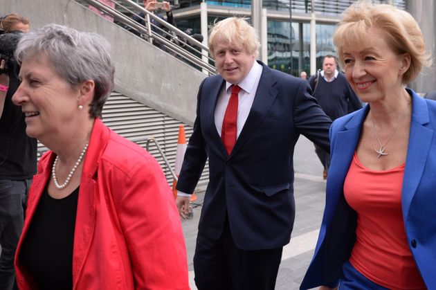 In happier days, Leave campaign chiefs Gisela Stuart, Boris Johnson and Andrea